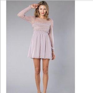 Free People Lace Boho Dusty Lave dress NWT!